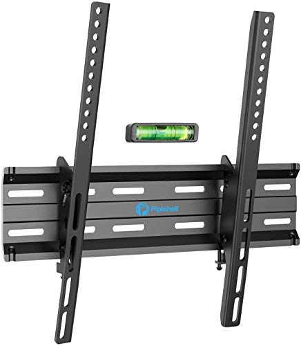 Tilt TV Wall Mount Bracket Low Profile for Most 26 - 55 Inch LED, LCD, OLED, Plasma Flat Curved Screen TV, Fits 16 Inch Studs VESA 400x400mm Supports up to 99lbs by Pipishell