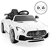 Best Choice Products Kids 12V Officially Licensed Mercedes-Benz GTR Ride On Car w/Parent Remote Control, AUX - White