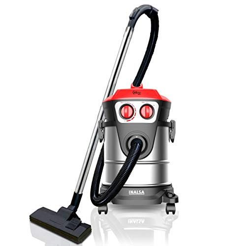 INALSA Vacuum Cleaner Commercial/ Industrial Wet and Dry Micro WD21-1600W with 3 in 1 Multifunction...