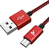 RAMPOW Câble Micro USB 2m Charge Rapide 2.4A - Câble USB en Nylon Tressé pour...
