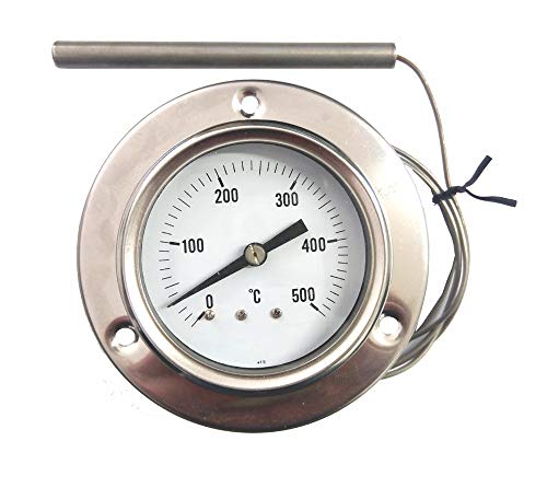 REDPOINT SPARES PIROMETRO/termometro 0-500 Inox per FORNI Pizza, BBQ,FORNI a Legna, etc.