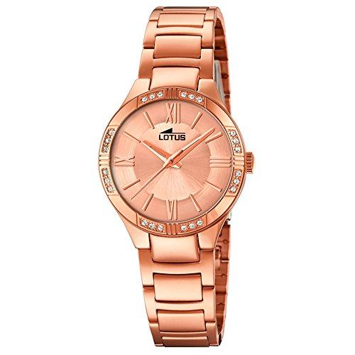 Lotus Damen Analoger Quarz Uhr mit Edelstahl Armband 18390/1