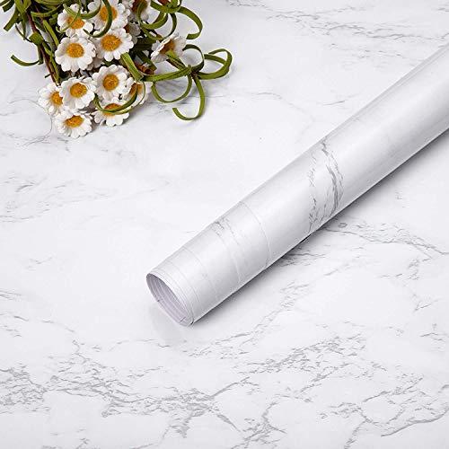 Niviy Adhesivo Papel Marmol para Muebles de Cocina Pegatina