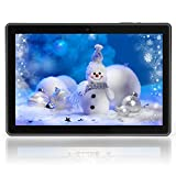YELLYOUTH 10 inch Android Tablet 9.0 Pie Quad Core 4GB RAM 64GB ROM Storage 10.1 IPS HD Curved Glass Touch Screen with WiFi Bluetooth GPS and Cameras Black