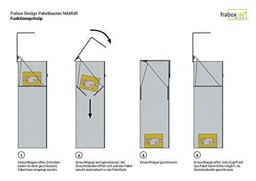 frabox Design Paketkasten Namur Edelstahl - 6