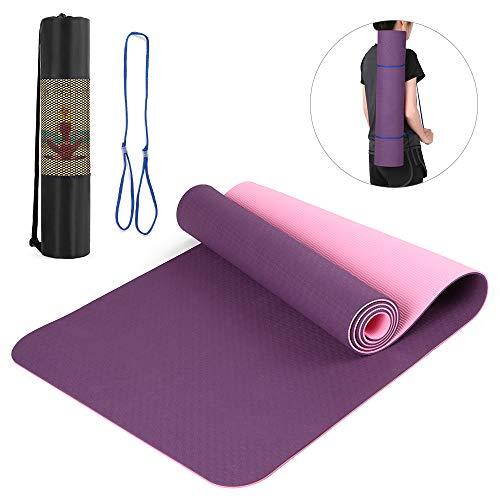 Lixada 72x24IN Tappetino da Yoga Antiscivolo TPE Eco Friendly Fitness Pilates Tappeto da Ginnastica...