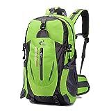 GFASIIWS Bolsa de deporte para escalada de montaña, paquete de viaje, mochila impermeable de gran capacidad al aire libre, verde