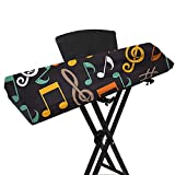 Digital Piano Keyboard Cover for 61/88 Key, Stretchable 88 Key Keyboard Dust Cover, Piano Keyboard Protective Keyboard Cover with Elastic Band JJZ353