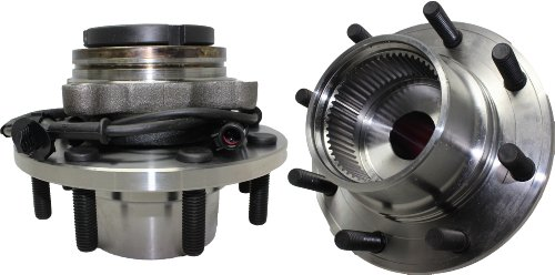 Detroit Axle - Pair (2) Coarse Threads Front Wheel Hub and Bearing Assembly w/ABS for 1999-2004 F-350 Super Duty/F-250 Super Duty - [2000-2002 Excursion] - SRW 4x4 Only