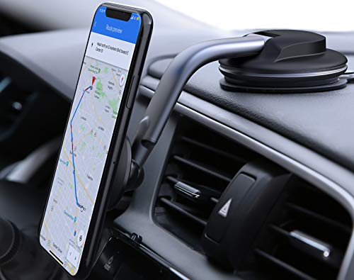 AUKEY Car Phone Mount 360 Degree Rotation Dashboard Windshield Car Phone Holder