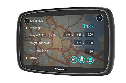 """TomTom Trucker 6000 navegador 15,2 cm (6"""") Pantalla táctil Portátil/Fijo Negro 300 g - Navegador GPS (Interno, Toda Europa, 2D/3D, 15,2 cm (6""""), 800 x 480 Pixeles, Horizontal)"""