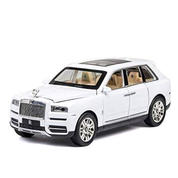 Rolls Royce Cullinan SUV Diecast Metal Car Models   High Simulation   Scale 1:24,White WKY (Color : Black)