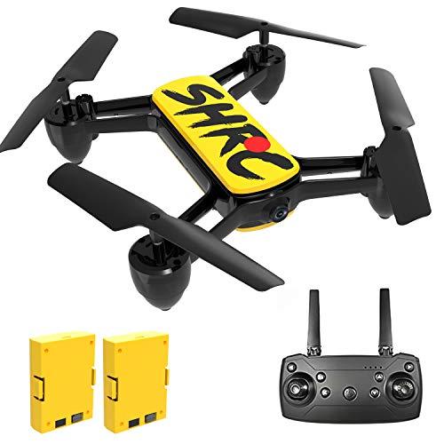 Rolytoy VraiJouet Drone con Telecamera 4K, FPV Quadricottero con Due Batteria 16-20 Minuti Volo, Mantenere l'Altudine, modalit Senza Testa, Drone RC per Principianti Bambini e Adulti (Giallo)