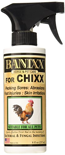 Banixx for Pecking Sores, Bumble Foot, Fowl Pox, Raw Vent Area Infection, Chicken Leg/Foot Injuries