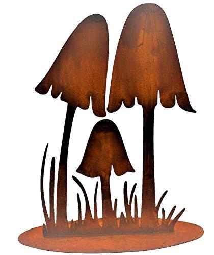 Rostikal   Herbst Dekoration Pilze   Metall Rost Deko für den Garten   Herbstdeko   25 cm hoch…