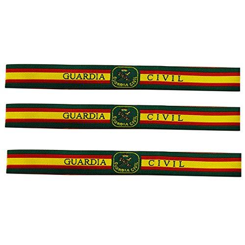 ALBERO 3 x Pulsera de tela Guardia Civil de España. Verde,