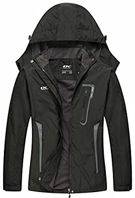 【STAY DRY ON A RAINY DAY】: Don't cancel your plans just because it started raining! Our new rain jacket is made of the latest waterproof fabric. More waterproof and windproof than before. The waterproof jacket and its hood will keep your upper body a...
