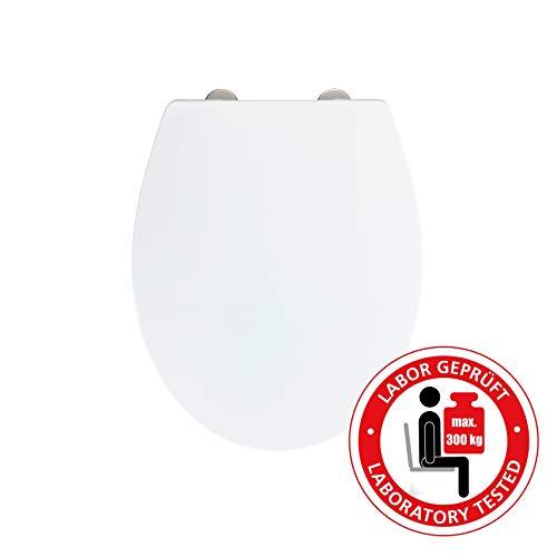 Wenko 24516100 Sedile WC Ostuni con abbassamento Automatico, carico 300 kg, Bianco
