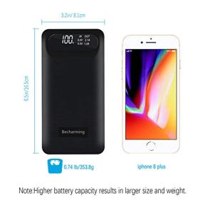 Portable-Charger-Power-Bank-24000mAh-External-Battery-Charger-Pack-3-Inputs-2-USB-Outputs-Phone-Charger-with-LCD-Screen-Compatible-Almost-Smart-Device-Tablet-Cellphones-Android-Phone