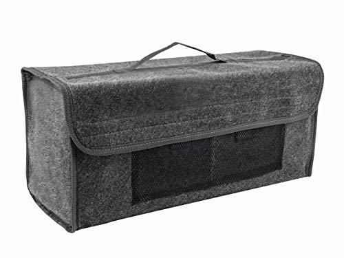 Eufab 21023 Kofferraumtasche, Nadelfilz 50 x 15 x 22 cm, Anthrazit, Klettverschluss
