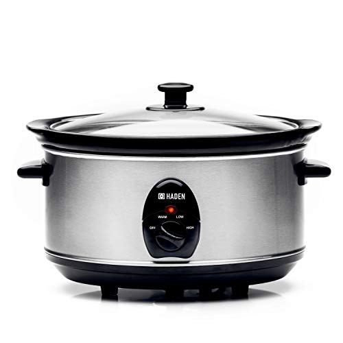 Haden Stainless Steel Slow Cooker with 3 Settings   3.5 litres/ 21 x 26.5 x 34.5cm   Glass Lid for...