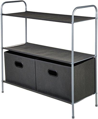 AmazonBasics Closet Storage Organizer with Fabric Bins and...