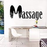 wZUN Mural SPA Masaje de Manos Etiqueta de la Pared SPA Sala de masajes decoración extraíble 85X42cm