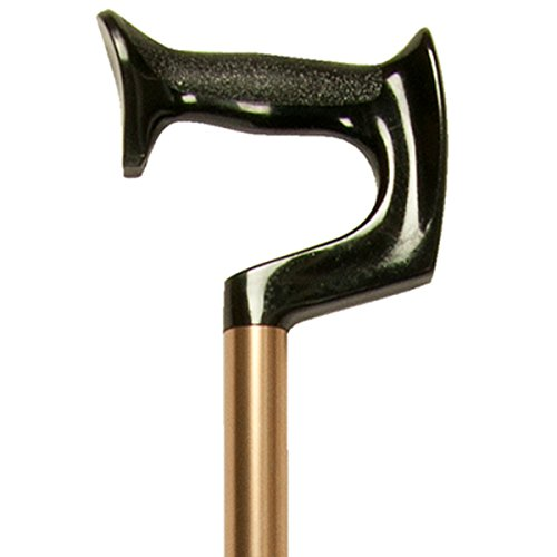 PCP Adjustable Cane, Orthopedic Grip Handle, Lightweight Aluminum, Bronze, Medium Grip