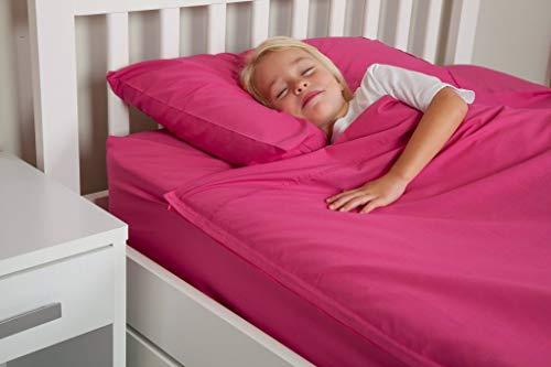 Fuchsia Pink Kids Zip Sheets - Twin Size