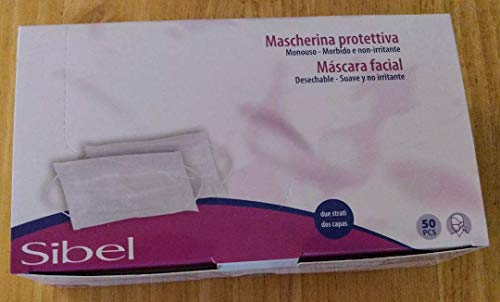 SIBEL Double thickness face masks - Box 50 by Sibel