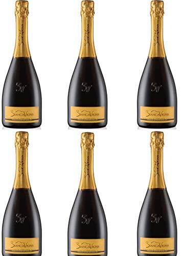 Vino Spumante - 6 Bottiglie da 0,75. l. -Conegliano Valdobbiadene D.O.C.G. Extradry Prosecco Superiore Millesimato - BiancaVigna