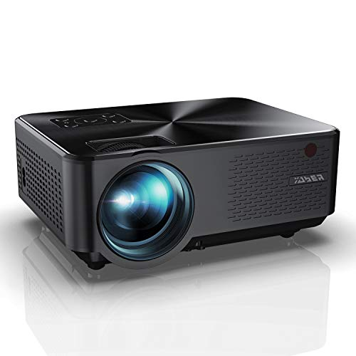 YABER Portable Projector with 5500 Lumen Upgrade Full HD 1080P 200' Display Supported, LCD LED Home & Outdoor Projector Compatible with Smartphone, HDMI,VGA,AV and USB (Black)