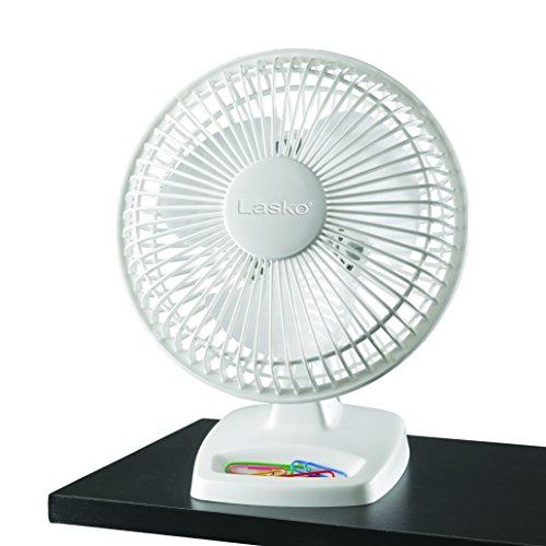 Lasko 2002W Personal Fan, 6-Inch, White, 2002