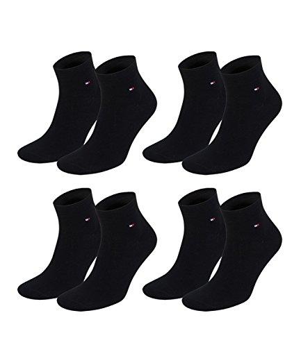 TOMMY HILFIGER, calzini da uomo casual business, 4 paia, con logo Black 43-46
