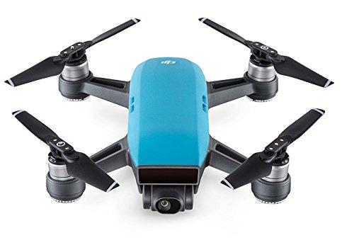 DJI - Spark (Version UE) - Ciel Bleu | Quadricoptère avec Caméra | Mini Drone | Offre 16-Min de Vol | Caméra Haute Performance pour Photos & Vidéos | Contrôle Simple | Transmission Vidéo Wi-Fi HD