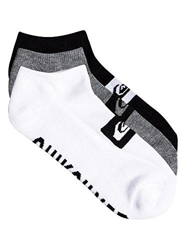 Quiksilver Anckle Pack Socks Calze, Multicolore (Assorted AST), Unica (Taglia Produttore: nica) (Pacco da 3) Uomo
