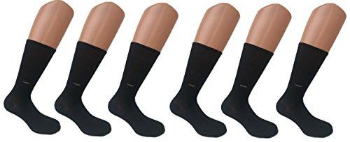 Enrico Coveri 3/6 paia calze corte Cotone Mercerizzato tinta unita assortito (6 paia nero)