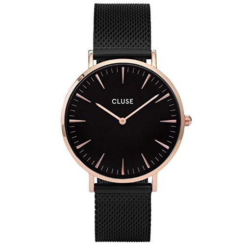 Cluse Damen Analog Quarz Uhr mit Edelstahl Armband CL18034