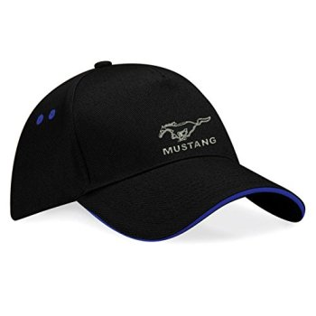 Ford Mustang Embroidered Baseball Cap, Really Premium Quality -k047 (Sw-Blau)