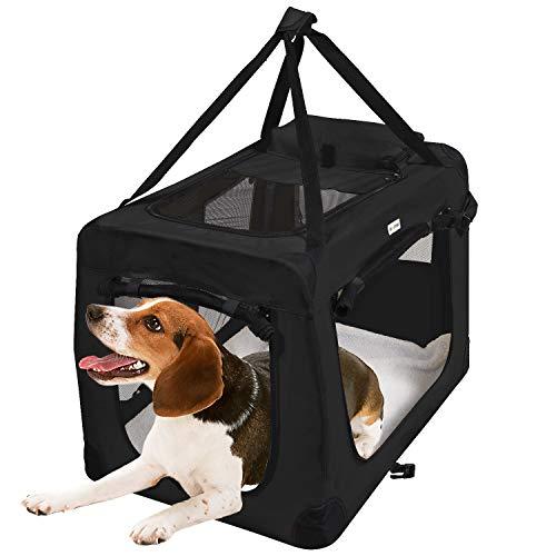 Mc Star Hundebox Transportbox Faltbare Reisebox Katzen Hunde Auto Box Oxford Gewebe Schwarz L