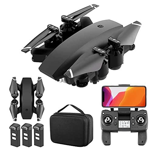 LNHJZ Droni GPS 5G WiFi FPV, con Drone quadricottero RC Pieghevole con Fotocamera Ultra Chiara 4K, Video Live grandangolare a 110 , con Doppia Fotocamera, Funzione di Ritorno di Una Chiave