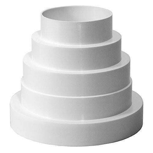 80, 100, 120, 125, 150 mm, in PVC, riduttore, riduzione del tubo di passaggio di ventilazione, tubo di ventilazione, universale, 80-150 mm