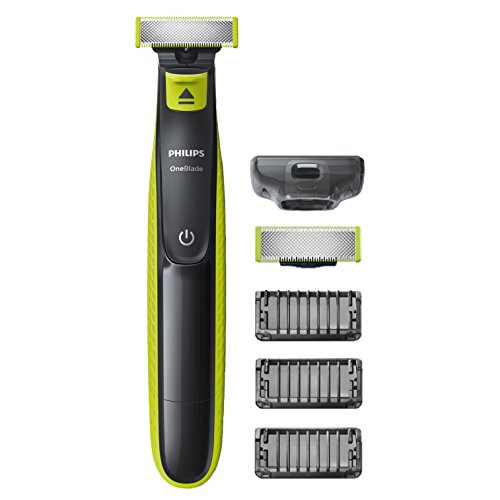 Philips QP2520/30 OneBlade, Rechargeable, 100 % étanche, 3 sabots clipsables barbe de 3 jours