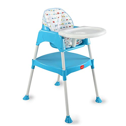 Luvlap 3 in 1 Convertible High Chair with 5 Point Safety Belts, for 6 to 36 Months Baby, Max Weight...