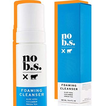 No B.S. Foaming Cleanser - Natural Face Wash For Women and Men - Gentle Facial Cleanser, Great For Daily Use. Acne Face Wash And Exfoliator. Vegan.