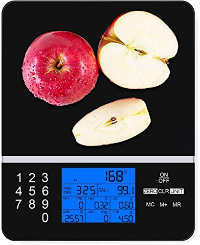IDAODAN Smart Food Scale with Perfect Portions Nutritional Facts Display, Digital Nutrition Kitchen Scale - Accurate Food and Nutrient Calculator, Pursue a Healthier You