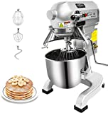 Stand Mixer - Commercial Cake Stand Mixer for Restaurant Kitchen Hotel - Kitchenaid Mixer Dough Maker with Stainless Steel Bowl Dough Hooks Whisk Beater Safety Guard 3-Speed Control 10 Quart, 750W