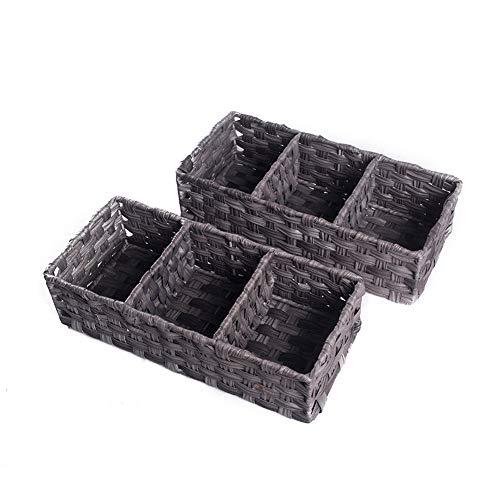 HOSROOME Toilet Paper Basket Larger Compartments Storage Basket...