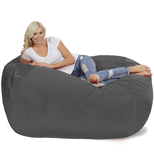 Chill Sack Bean Bag Chair: Huge 6' Memory Foam Furniture Bag and Large Lounger - Big Sofa with Soft Micro Fiber...