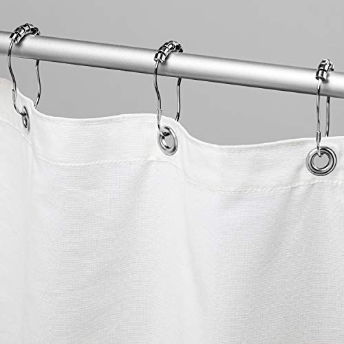 Bean Products Cotton Shower Curtain (White), [70' x 74'] | All Natural...